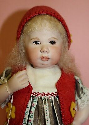 MAREE MASSEY ALMOST REAL PORCELAIN DOLL  -   RED RIDING HOOD  *NEW*