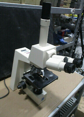Carl Zeiss Axiolab Re Trinocular Microscope With 5 Acroplan Objectives