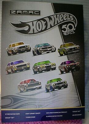 2018 Hot Wheels RLC 50th Anniversary ZAMAC FLAMES 🔥 COLLECTION ~8 CAR Set