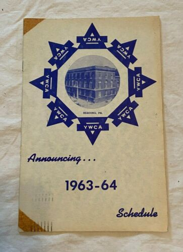 1963-64 YWCA Reading PA Schedule Of Activities Booklet & Papers