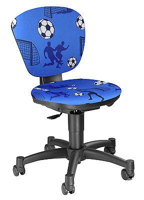 Kinder Tisch Stuhl (Kinderdrehstuhl Schreibtischstuhl Bürostuhl Topstar Ergo Kid Fußball blau B-Ware)