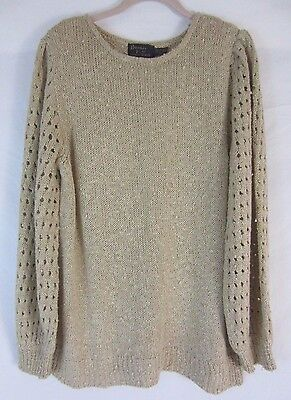 Bonnie Lee Long Sleeve Pull Over Beige Sweater - Women