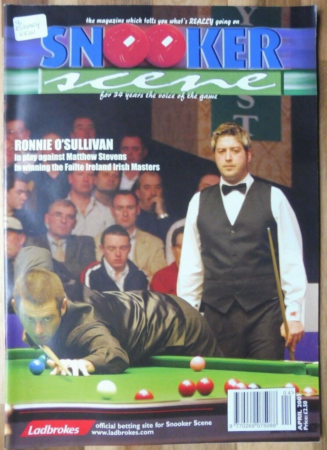 Snooker Scene Magazine, April 2005, Good Condition.