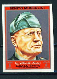 Italian-WW2-Leader-Benito-Mussolini-stamp-MNH-imperforated
