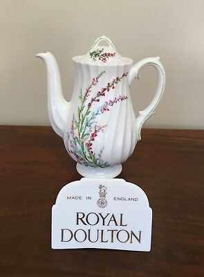 Bell Heather (Royal Doulton BELL HEATHER SCALLOPED 3-Cup Mini Coffee Pot & Lid)