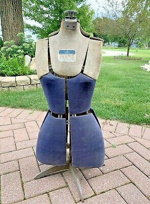 Antique Vintage Mannequin Dress Form Adjustable By Hearthside