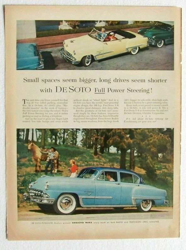Desoto Auto Ad 2 tone blue 4 Door 1953