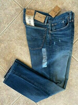 Polo Ralph Lauren Jeans 40 30 Hampton Relaxed Straight Denim Rope Dyed NWT (Mexico Polo Ralph Lauren)