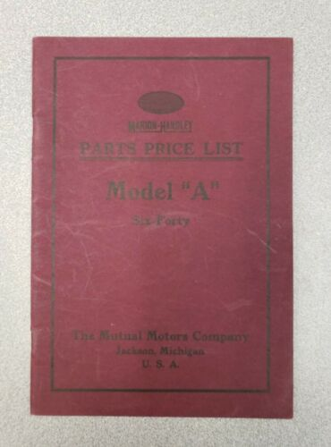 1917 Marion-Handley Parts Price List