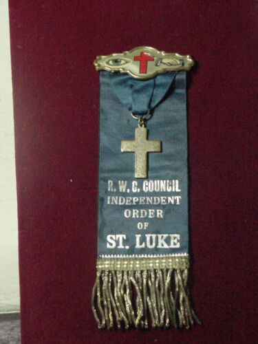 Black Americana, R.W.C. COUNCIL Independent Order Of St Luke  Badge