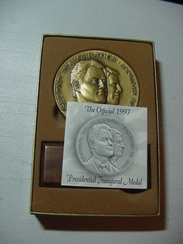 President Bill Clinton / Al Gore 1997 official inaugural bronze medal -New