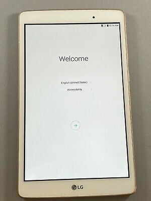 Fair LG G Pad X 8.0 V521 T-Mobile Gold Black Android Tablet Wifi + 4G Cellular