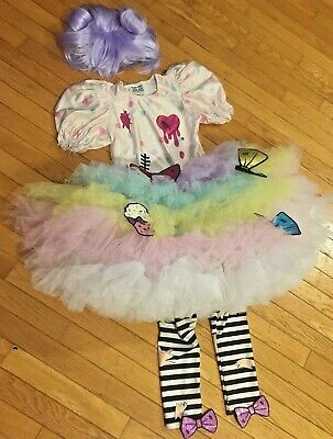 NWOT Girls Size 8 HaraJuku Chasing Fireflies Gwen Stephanie Costume with Wig