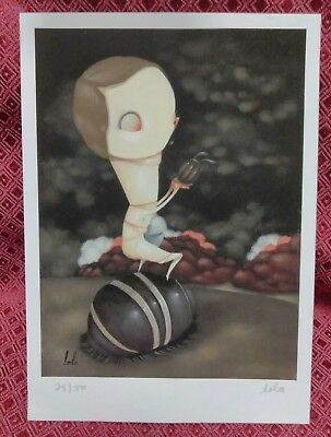 """""""The Incredible Naked Todd"""" 2008  by LOLA GIL #25/50 SIGNED Giclee"""