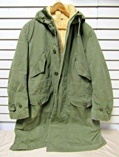 Vintage M-1947 M47 Overcoat Parka w/Pile Liner Medium