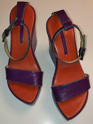 Vintage NYC's Otto Tootsie Plohound's Roberto del Carlo Purple Vero Cucio Sandal