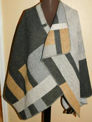 Burberry Wool Cashmere - Authentic Burberry Prorsum Colorblock Mega Check Wool & Cashmere Cape Poncho