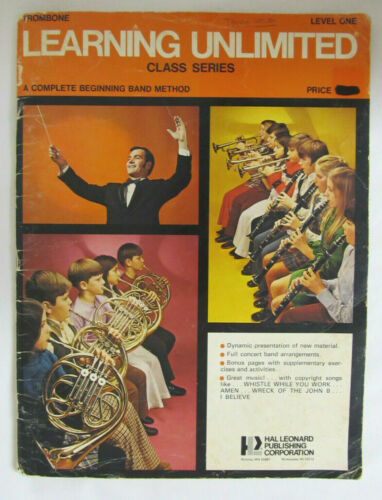 TROMBONE LEARNING UNLIMITED CLASS SERIES COMPLETE BEGINNING BAND METHOD BOOK