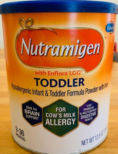 Nutramigen with Enflora LGG Toddler Hypoallergenic Formula, Powder 12.6 oz Can