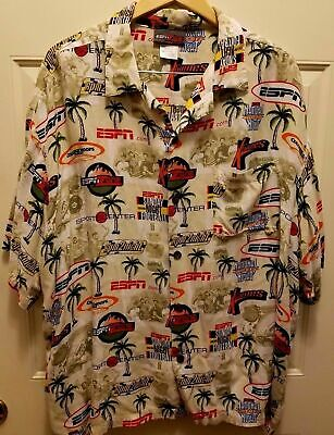 ESPN Zone Hawaiian Camp Shirt Sports Center Theme Men's XXL ESPNZone (Hawaiian Center)