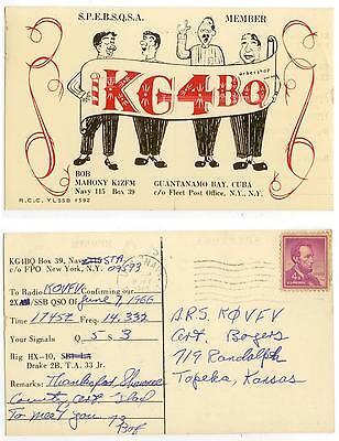 1966 Guantanamo Bay US Navy Radio KG4BQ QSL card - posted - Bob Mahoney