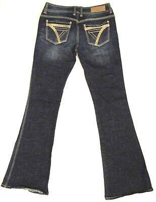 Seven 7 stretch denim size 29 embroidered pocket Flare Dark blue jeans Stretch Denim Flare Jeans
