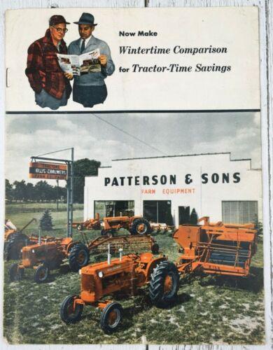 1959 ALLIS CHALMERS Dealer BROCHURE Sales Catalog CANADIAN Tractors Harvester
