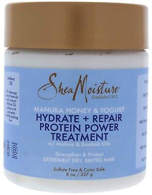 Protein Moisture (Shea Moisture, Manuka Honey - Yogurt, Hydrate + Repair Protein Treatment 8oz )
