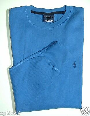 POLO RALPH LAUREN Sleepwear Men's Sz M Waffle Knit Crewneck Long-sleeves NWT