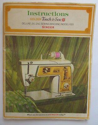Singer Zig-Zag Sewing Machine Model 630 Instructions