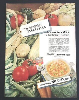 Life Magazine Ad CAMPBELL's Vegetable SOUP 1947 Ad
