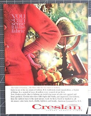 Life Magazine Ad Cyanamid CRESLAN Luxury Acrylic Fiber