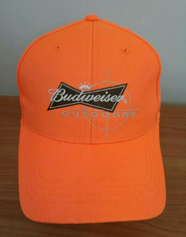 Budweiser Outdoors Orange Baseball Hat Cap 2006