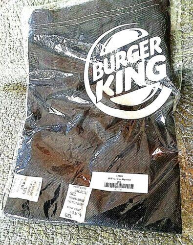 Burger King Logo Crew Black Red Band Hem Kitchen Apron NOS BBQ Chef Cook OS