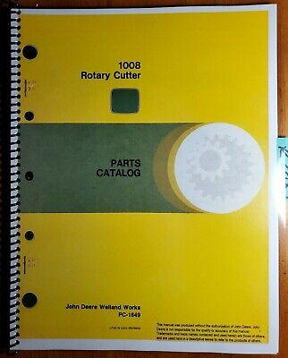 John Deere 1008 Rotary Cutter Mower Parts Catalog Manual Pc-1849 588