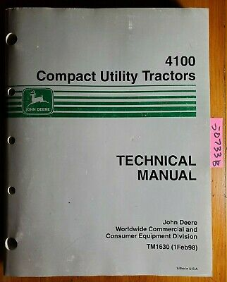 John Deere 4100 Compact Utility Tractor Technical Manual Tm1630 298