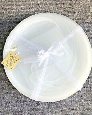 White Dinner Plates Bulk (Akcam Turkish Glass DINNER Plates White Swirl Frosted Set of 4 Milk Glass)
