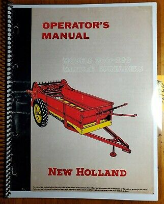 New Holland 200 220 Manure Spreader Owners Operators Manual 2185-5m 157