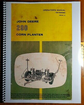 John Deere 290 Corn Planter Owners Operators Manual Om-b25260 J7 1067