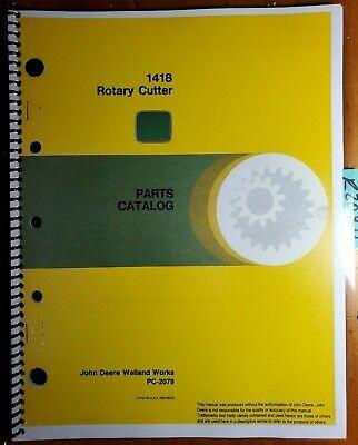 John Deere 1418 Rotary Cutter Mower Parts Catalog Manual Pc-2079 588