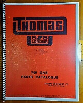 Thomas 700 Gas Skid Steer Loader Parts Catalogue Catalog Manual 474