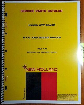New Holland 277 Pto Engine Drive Baler Service Parts Catalog Manual 5027713 72
