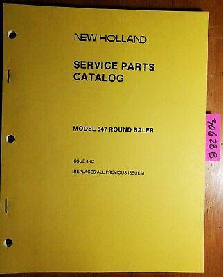 New Holland 847 Round Baler Service Parts Catalog Manual 5084711 482