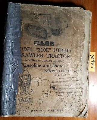 Case 310e Utility Crawler Gasoline Diesel Tractor 3016001- Parts Catalog Manual
