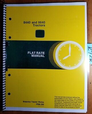 John Deere 8440 8640 Tractor Flat Rate Manual Frm-290 479