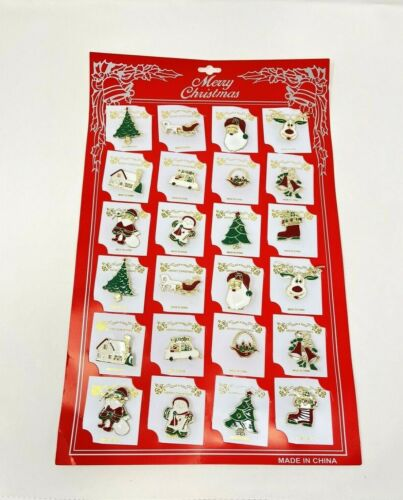 Lot of 24 pcs Christmas Brooches/pin pretty Vintage for Christmas .