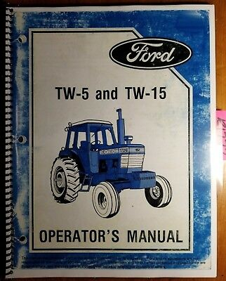 Ford Tw-5 Tw-15 Tractor 1985-86 Owners Operators Manual Se 4430 3855 42001520