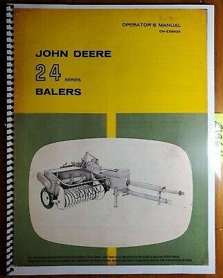 John Deere 24 Series 24t 24ws Baler Owners Operators Manual Om-e38936 H7 867