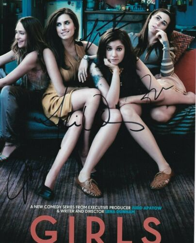 HBO GIRLS CAST AUTOGRAPHED 8X10 PHOTO DUNHAM / MAMET / WILLIAMS / KIRKE W/COA