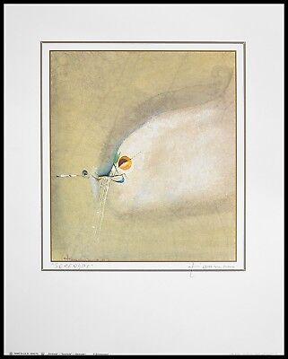 R. Zimmermann Serenade Poster Kunstdruck Bild im Alu Rahmen schwarz 50x40cm